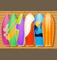 bamboo surf vector image vector image