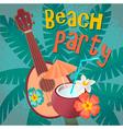 Beach ukulele vector image