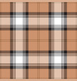 beige tartan plaid scottish pattern vector image vector image