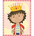 boy king vector image