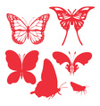 butterfly digital clipart 2 vector image vector image