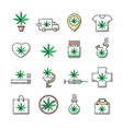 cannabis in cross legalization health care vector image vector image