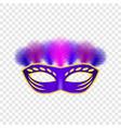 carnival mask venetian mockup set realistic style vector image vector image