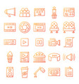 cinema icons pack vector image vector image