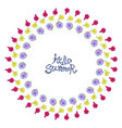 circle floral frame vector image vector image