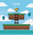 classic videogame scenery vector image vector image