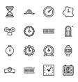 clock icons vector image vector image