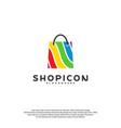 color shop logo template design vector image vector image