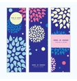 colorful bursts vertical banners set pattern vector image vector image