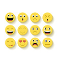 Cute emoticons set vector image