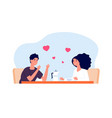 date in cafe friends drinking coffee vector image vector image