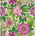 Decorative colourful picturesque seamless pattern vector image vector image