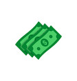 dollar banknotes flat icon money cash symbol vector image vector image