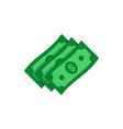 dollar banknotes flat icon money cash symbol vector image vector image