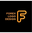 F letter forex trending quality business logo vector image