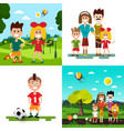family with kids set vector image vector image