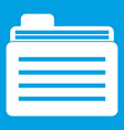 file folder icon white vector image vector image