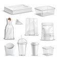 food packaging blank realistic set vector image vector image