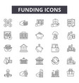 funding line icons for web and mobile design vector image vector image