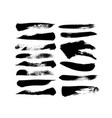 grungy paint brush strokes collection vector image