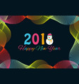 happy new year 2018 background with snowman and vector image