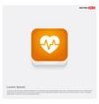 heart cardiogram icon orange abstract web button vector image