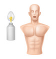 human body for training of artificial vector image vector image