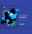 landing page template with a blue background color vector image vector image