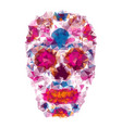 mexican skull color t-shirt vector image vector image