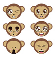 Monkey Heads vector image