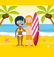 people vacations summer time vector image
