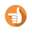pointing gesture vector image vector image