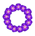 purple morning glory flower wreath vector image vector image