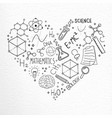science hand drawn doodle icons love concept vector image