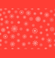 seamless pattern with snowflakes christmas vector image vector image
