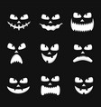 set pumpkin faces silhouette icons vector image vector image