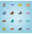 Shoes icons set cartoon style vector image vector image