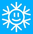 snowflake symbol christmas snow icon vector image