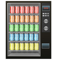 Soft drinks in the vendor machine vector image vector image