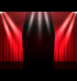stage with curtains vector image