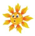 sweating cartoon sun vector image vector image