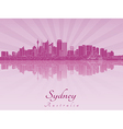 Sydney V2 skyline in purple radiant orchid vector image vector image