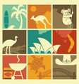 symbols of australian culture and nature vector image vector image