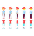 teenager boy and clothes set vector image