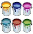 Tins with paint vector image