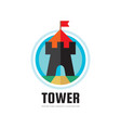 tower - concept logo template vector image vector image