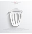 trash can web icon vector image vector image