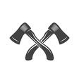 Two crossed axes Logo elements Black and white vector image vector image