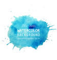 watercolor splash banner design text background vector image