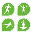 yoga tags vector image vector image